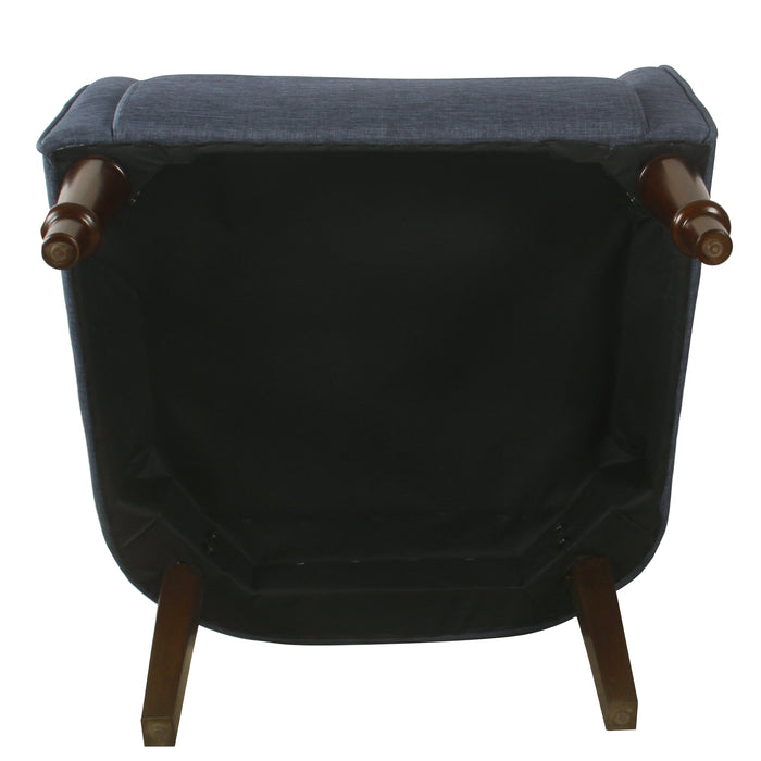 Traditional Barrel Chair - Navy Woven