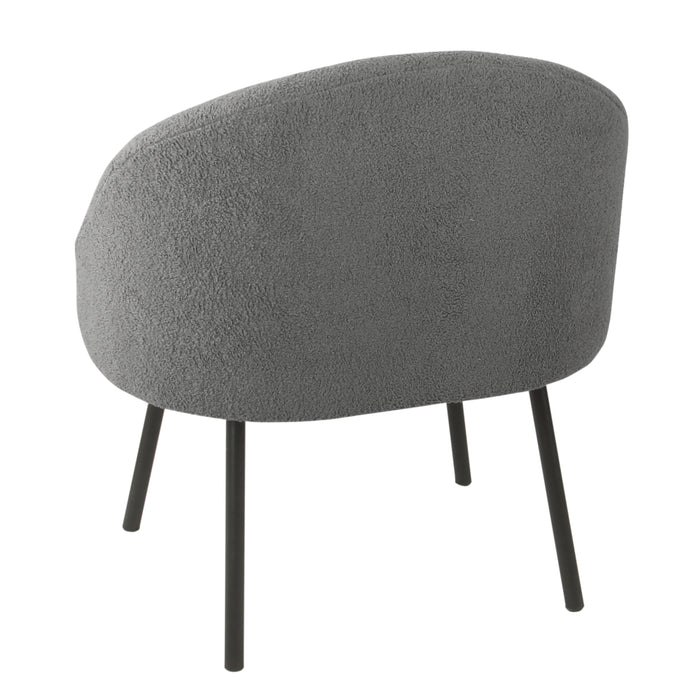 Modern Sherpa Accent Chair - Gray
