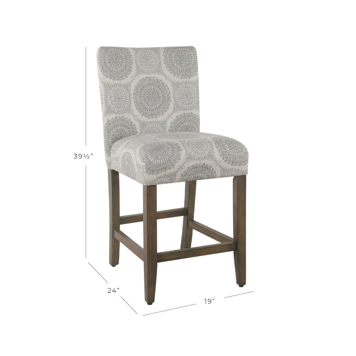 "24"" Classic Counter Stool - Gray Medallion"