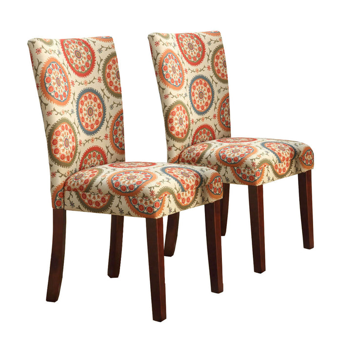 Parsons Deluxe Dining Chair -  Woven Suzani  Medallion - Set of 2