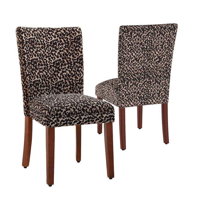 Parsons Deluxe Dining Chair - Leopard - Set of 2