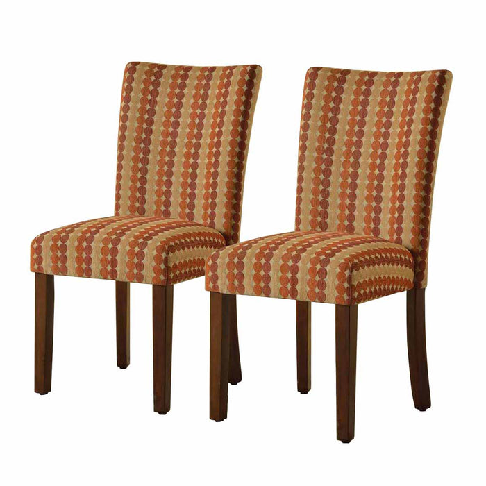 Parsons Deluxe Dining Chair - Geometric Dots - Set of 2
