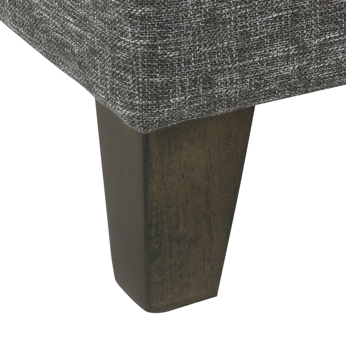 Medium Storage Ottoman - Slate Grey