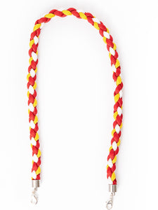 Paracord Twister in Red, Yellow and White