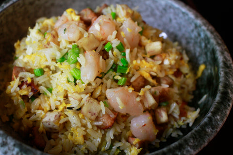 Empress Fried Rice with Prawns, Yam, Empress Char Siew, Olives & Egg Ⓟ