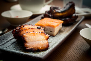 Triple Roast Platter (Empress Char Siew, Crackling Roast Pork, Empress Sticky & Sweet Pork Ribs) Ⓝ Ⓟ