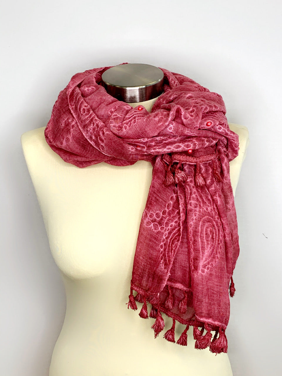 Pearl and Tassle Scarves
