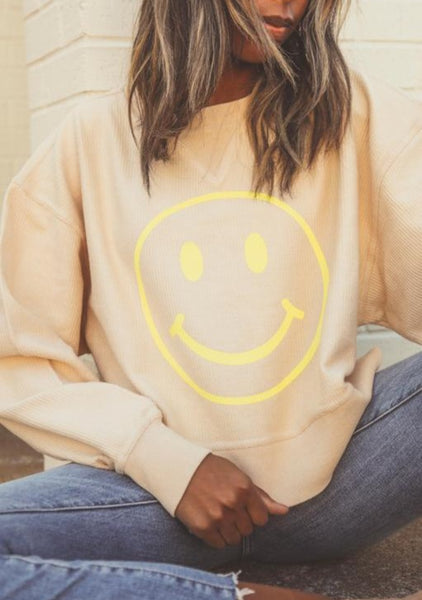 friday + saturday: Smiley Cropped Cord