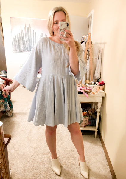 Blue Me Away Dress