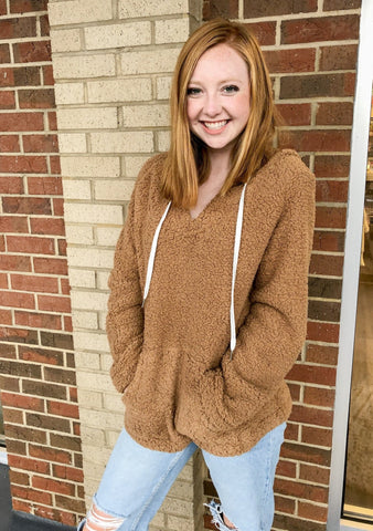 Truly Teddy Pullover: Brown