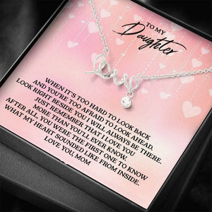 To My Daughter - Love you, Grandma - Scripted Love Necklace(0755)