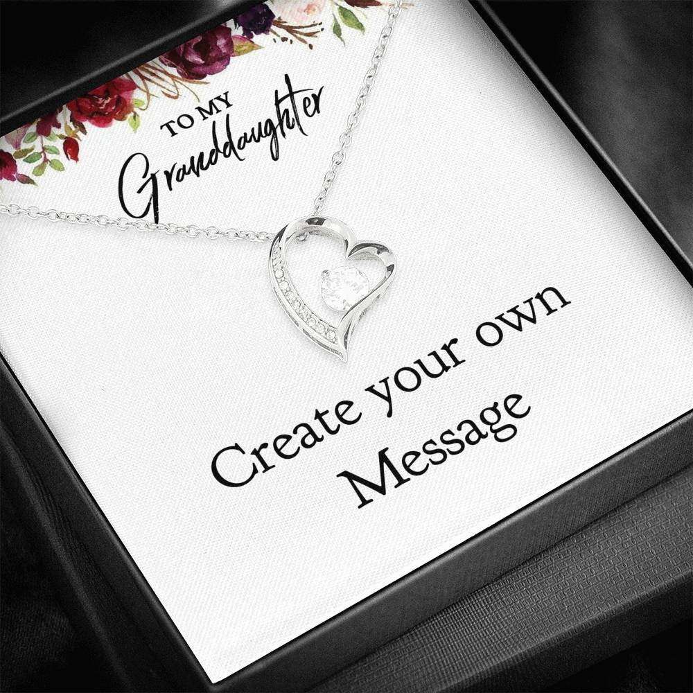 To My Granddaughter - Creat Your Own Message -18k Yellow Gold Finish