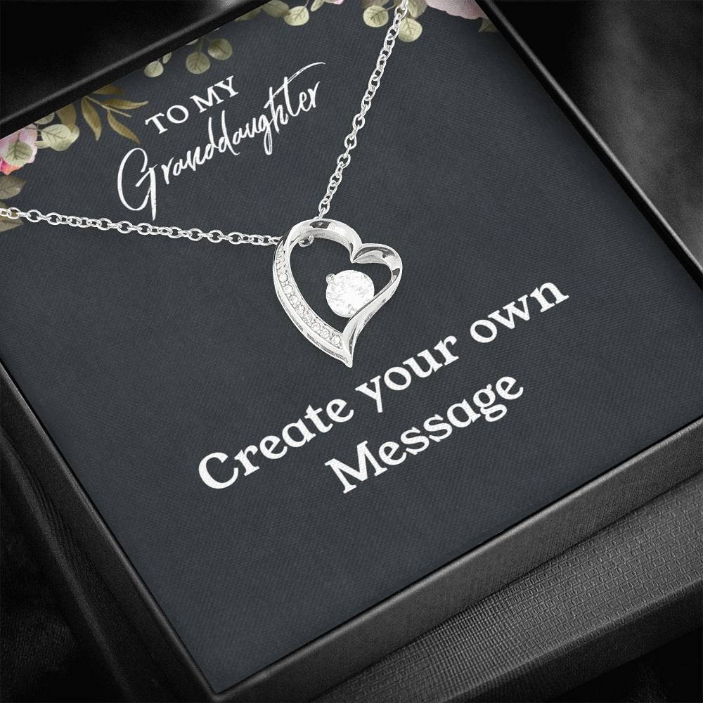 To My Granddaughter - Create Your Own Message -18k Yellow Gold Finish