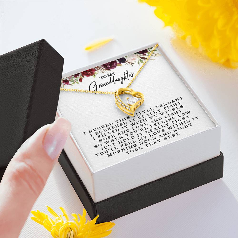 Premium18k Yellow/White Gold Necklace For Granddaughter - Personalizable Gift