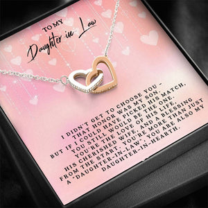 To My Daughter-In-Law 	Interlocking Heart Necklace