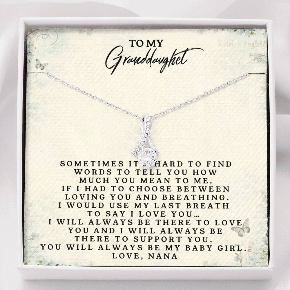 To My Granddaughter Love Nana - Alluring Beauty Necklace(0687)