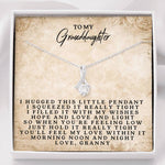 To My Granddaughter Love Granny - Alluring Beauty Necklace(0717)