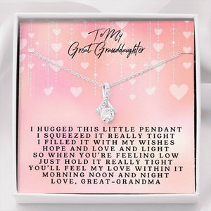 To My Great-Granddaughter - Alluring Beauty Necklace