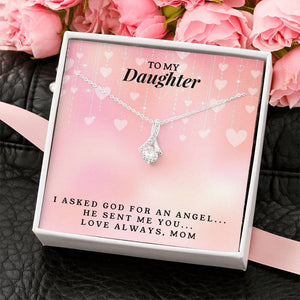 To My Daughter - Love, Mom - Alluring Beauty Necklace