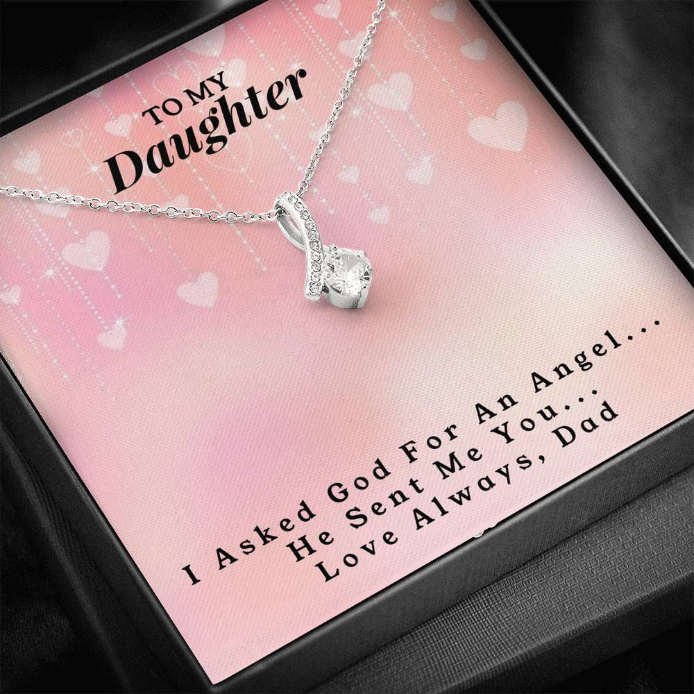 To My Daughter - Love, Dad - Alluring Beauty Necklace