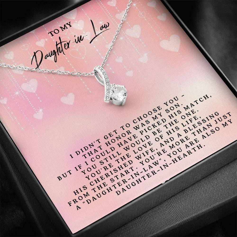 To My Daughter-In-Low - Alluring Beauty Necklace