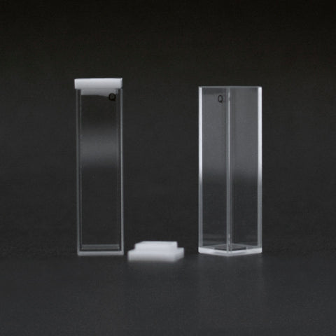 One closed cuvette and one open cuvette