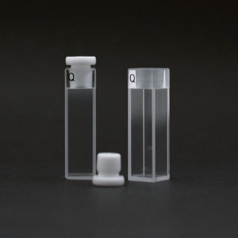 One open cuvette and one closed cuvette