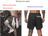 Mens Running Shorts 2 in 1 Sports Jogging Fitness Shorts Training