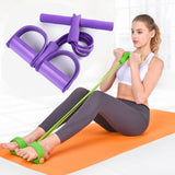 Fitness Gum 4 Resistance Elastic Bands Latex Pedal Exerciser Sit-up Pull Rope Expander Yoga Pilates Workout for Home Gym