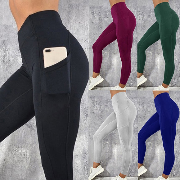 Women Gym Workout Leggings with side Pocket
