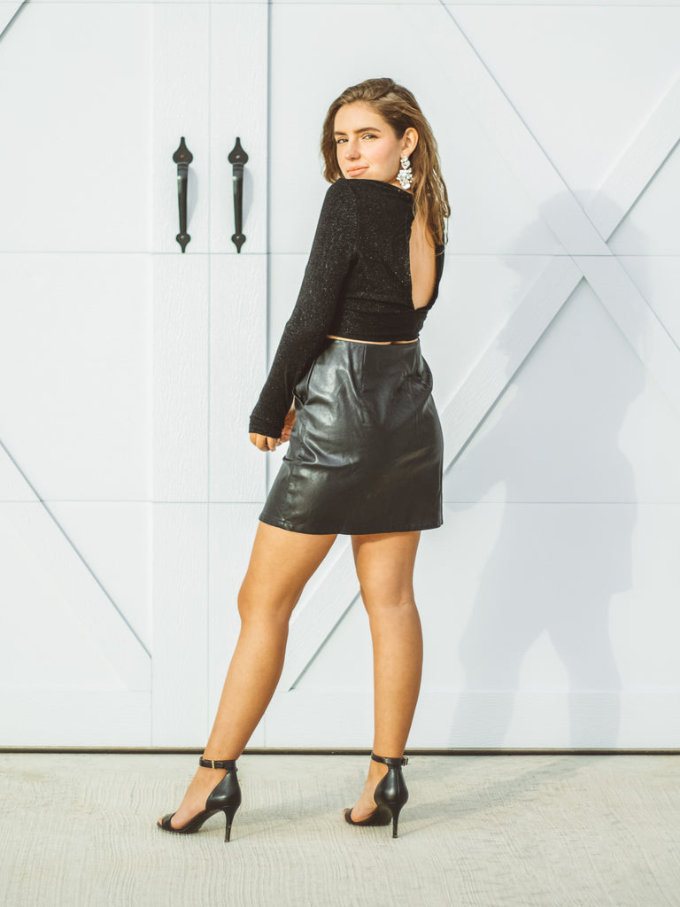 Kendall Leather Skirt