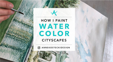How I Paint Watercolor Cityscapes