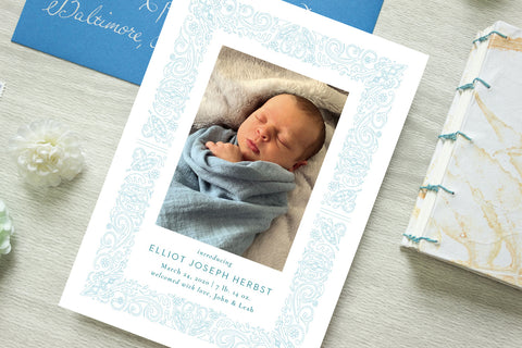Elliot Herbst Birth Announcement