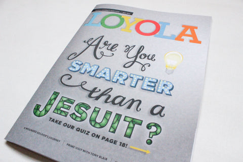 Are You Smarter Than A Jesuit? Magazine Cover