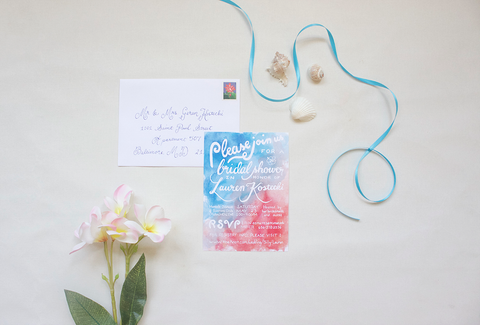 Caribbean Bridal Shower Invitation