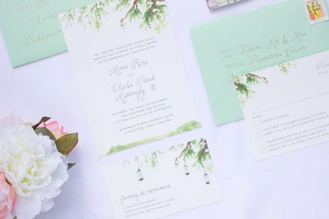 Mattingly Vitale Wedding Invitation Suite