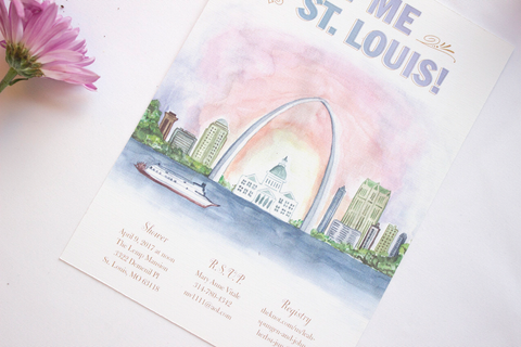 Meet Me In St. Louis Bridal Shower Invitation