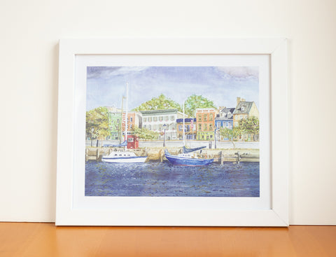 Fells Point Watercolor Print