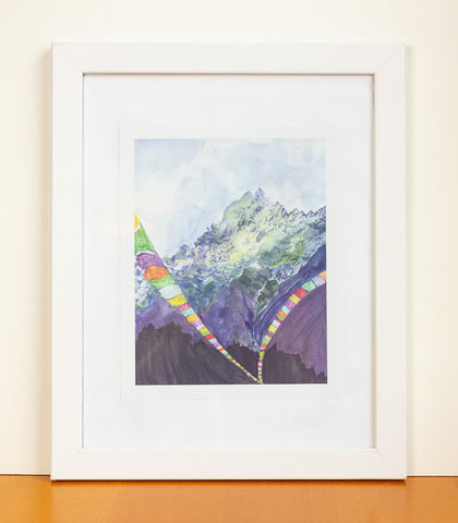 Tibet Watercolor Print