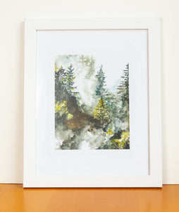 Watercolor Forest Print