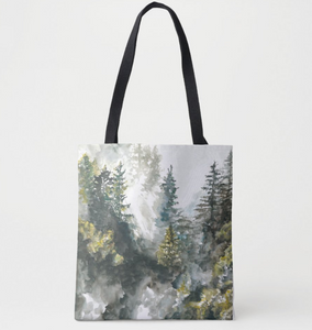 Forest Mist Tote Bag
