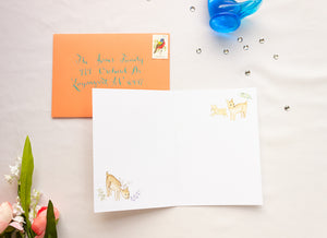Woodland Creatures Thank You Card
