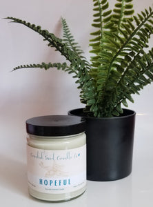 Hopeful Smokey Vanilla Candid Soul Candle Company Soy candle Spring Colleciton