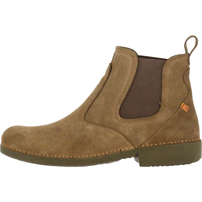 Boots homme camel cuir lux suede