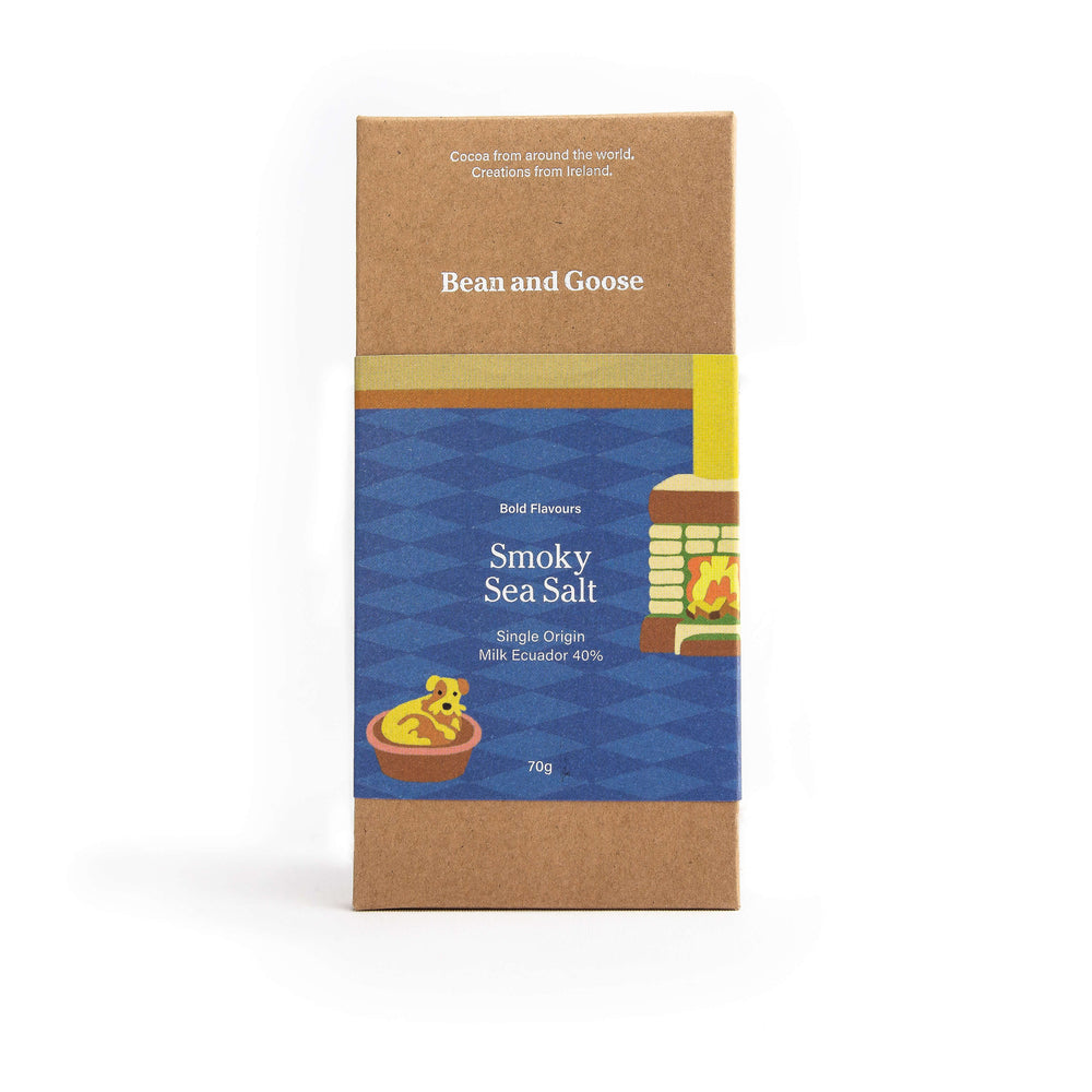 Bean & Goose Smokey Sea salt Chocolate Bar