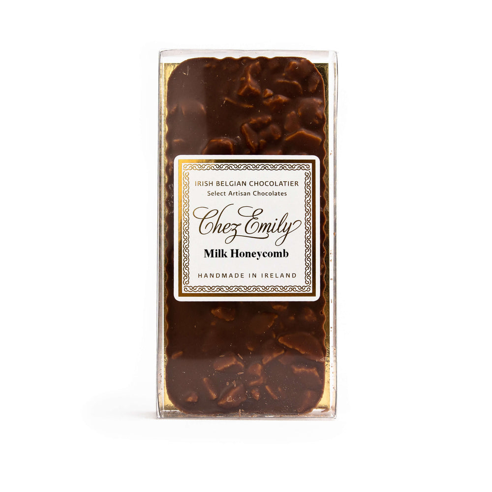 Load image into Gallery viewer, Chez Emily Milk Honeycomb Chocolate Bar.