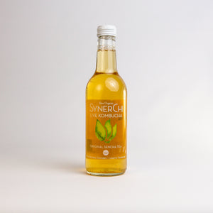 Load image into Gallery viewer, Synerchi Live Kombucha - Sencha Tea Lightly Sparkling: Original Sencha Tea