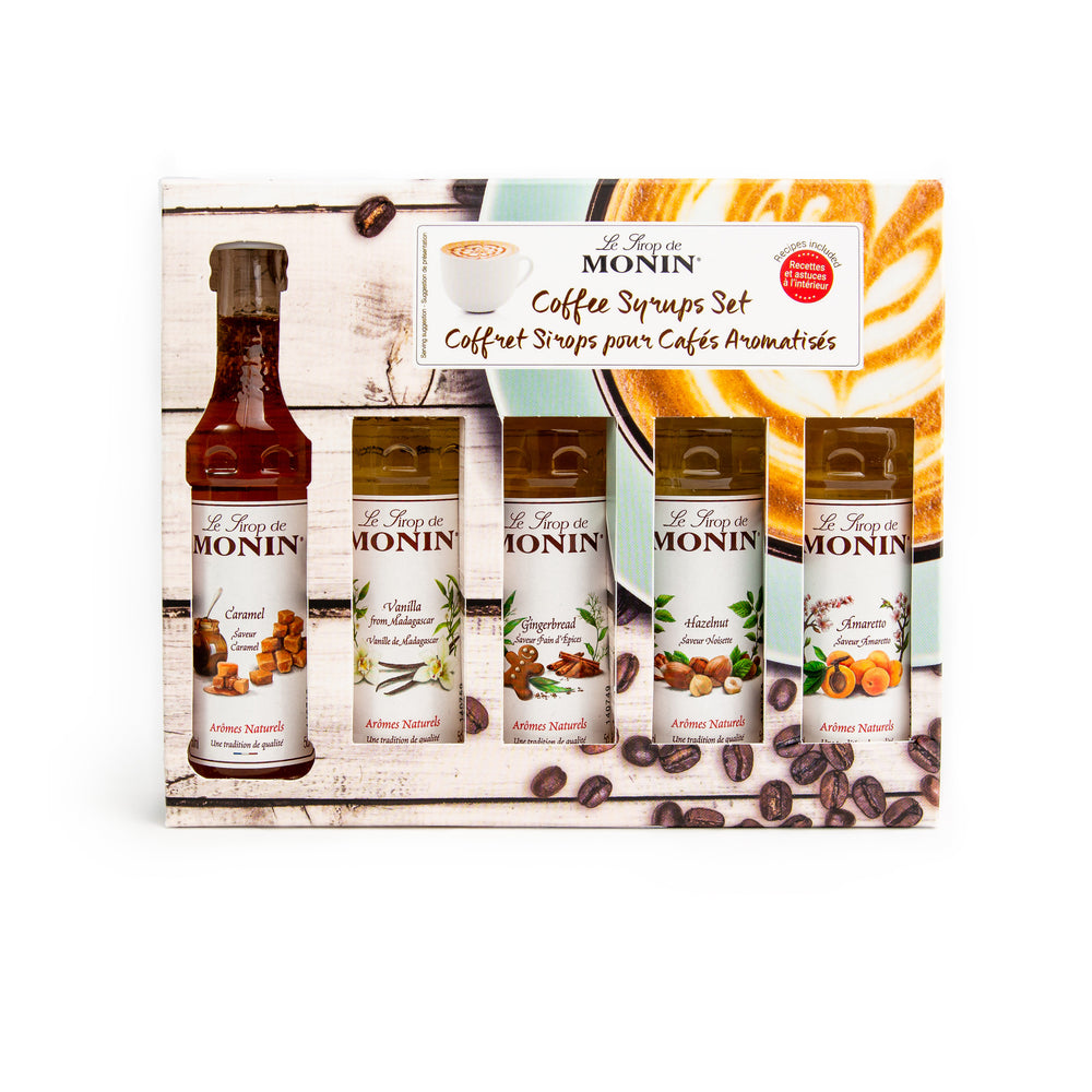 Monin Coffee Syrup Set 5x5cl