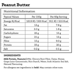 All Real Protein Bar: Peanut Butter 60g Nutritionals