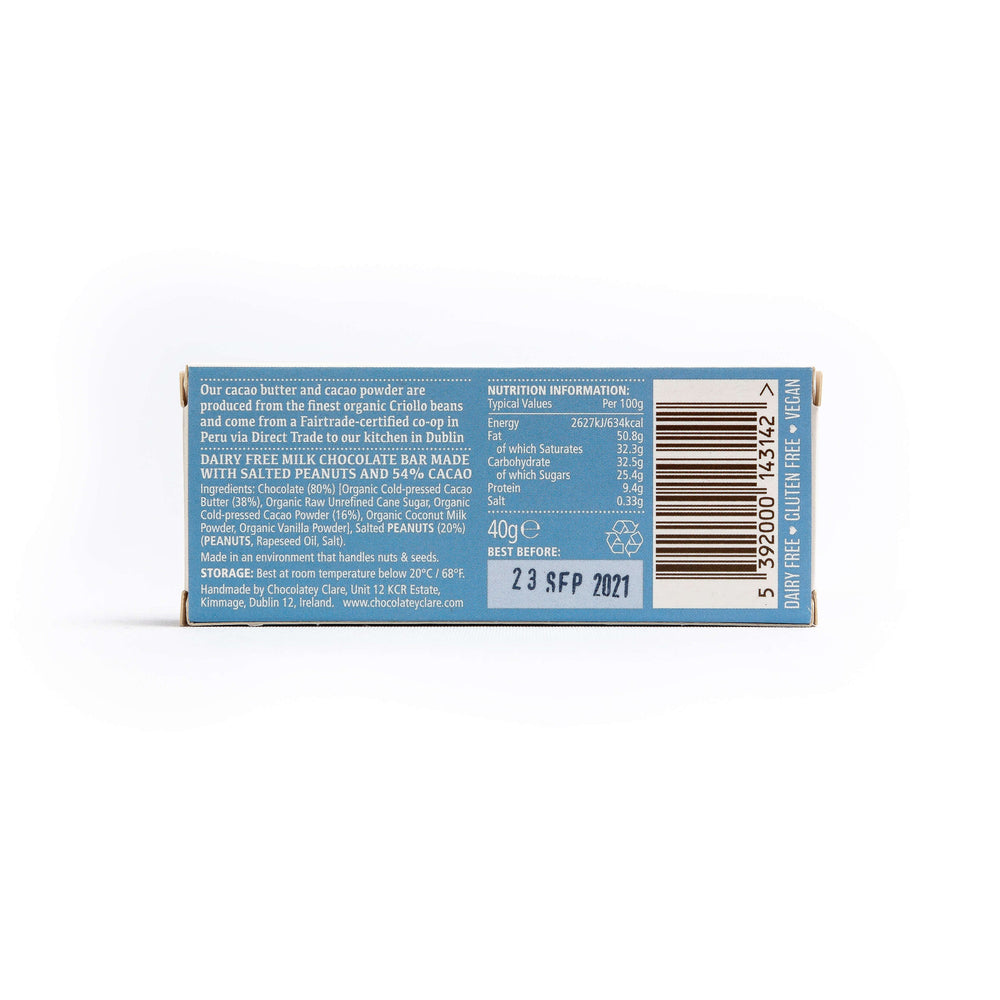 Load image into Gallery viewer, Chocolatey Clare Salted Peanut Dairy Free Chocolate Bar: 40g